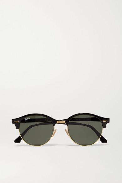 Clubround Acetate And Gold Tone Sunglasses