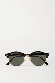Clubround acetate and gold-tone sunglasses