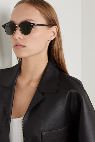 Porter BanClubround Net Gold Acetate com A And Ray Tone Sunglasses YD2WH9EI