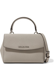 Ava mini textured-leather shoulder bag