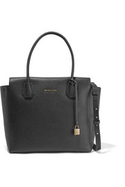 Mercer textured-leather shoulder bag
