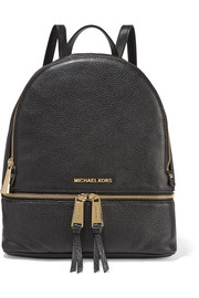 Rhea textured-leather backpack