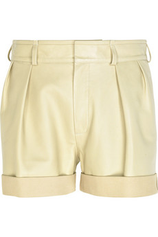 Chloé Lambskin leather shorts
