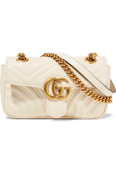 Gucci - Gg Marmont Mini Quilted Leather Shoulder Bag - Cream