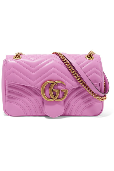 b8e1ebdc189a Gucci | GG Marmont medium quilted leather shoulder bag | NET-A ...