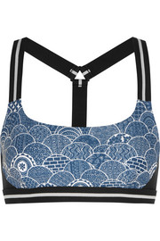 Shimoda printed stretch-jersey sports bra
