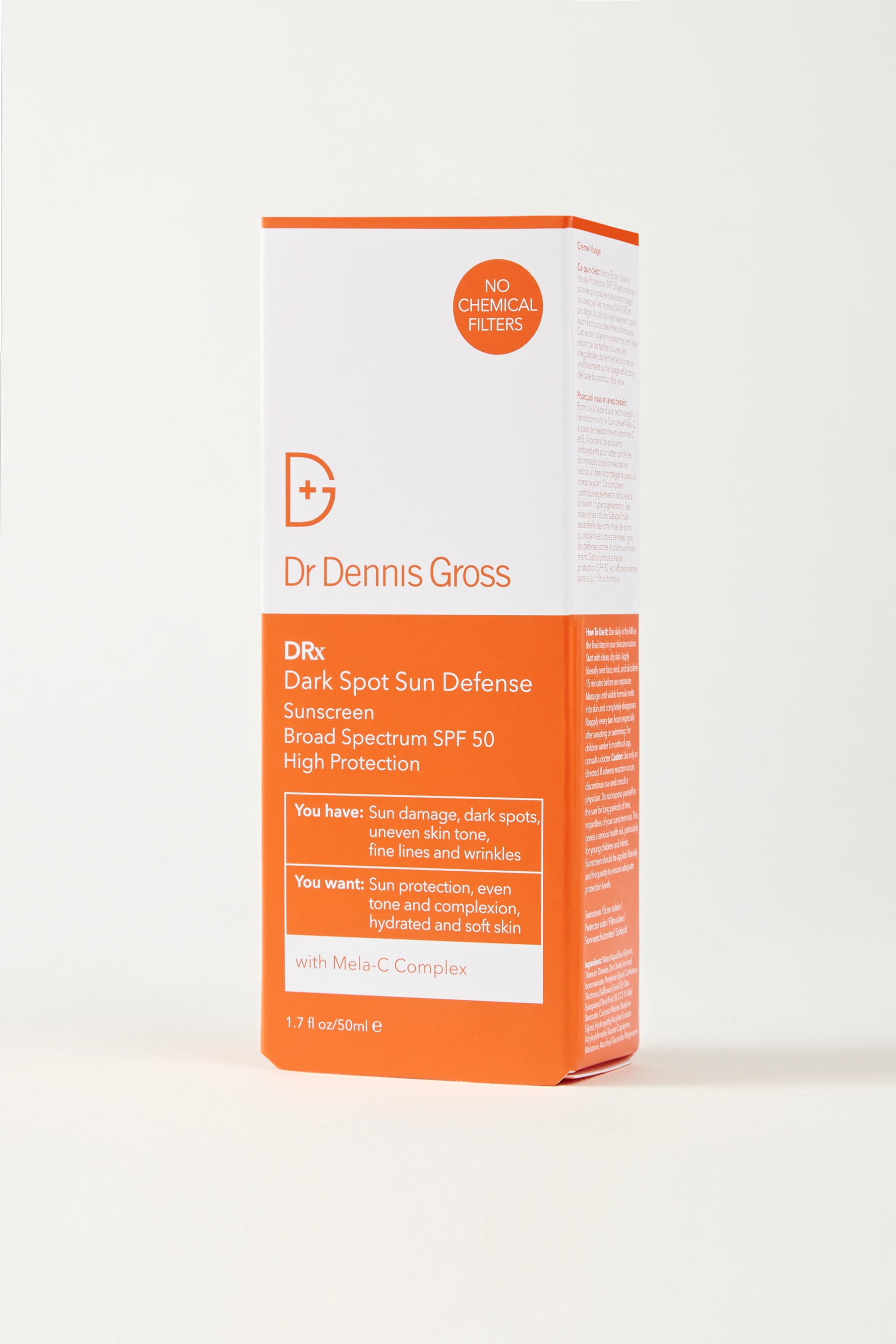 Dr. Dennis Gross Skincare Dark Spot Sun Defense Sunscreen SPF50, 50ml