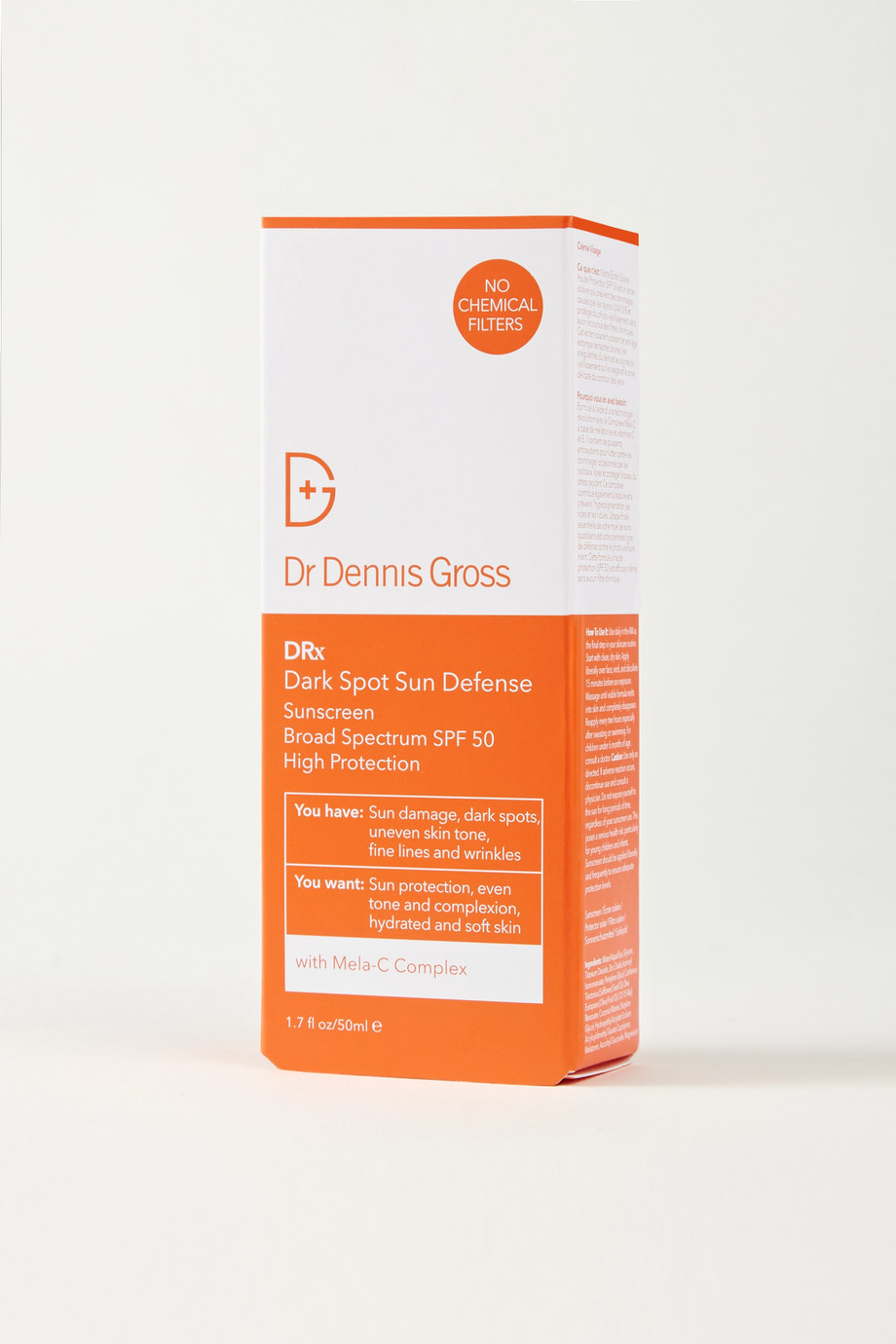 Dr. Dennis Gross Skincare Dark Spot Sun Defense Sunscreen SPF50, 50ml
