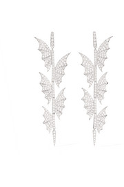 Fly By Night 18-karat white gold diamond earrings