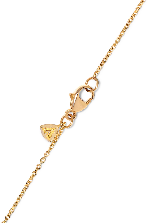 Stephen Webster Topkat 18-karat gold diamond necklace