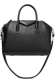 Small Antigona bag in black textured-leather
