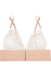Stella McCartney Bella Admiring lace-paneled stretch-jersey soft-cup triangle bra