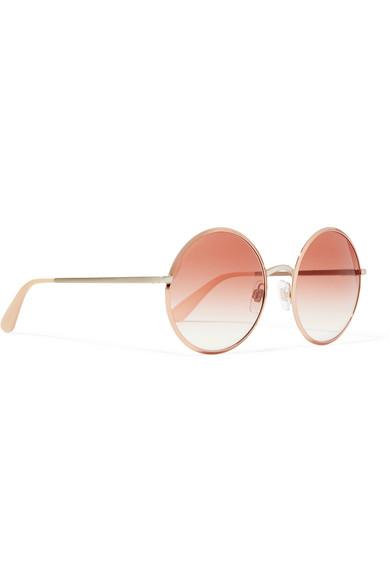 d190f9520b3 Dolce   Gabbana. Round-frame rose gold-tone sunglasses