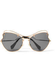 Miu Miu Scenique cat-eye gold-tone sunglasses