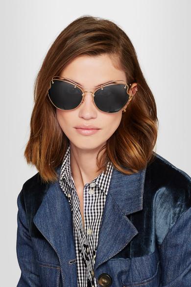 Miu Miu   Scenique cat-eye gold-tone sunglasses   NET-A-PORTER.COM 257ba64944