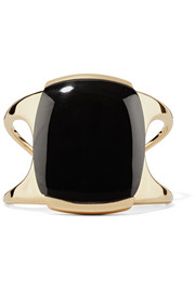 Lisa Eisner Frizzle Crisp bronze and jade cuff