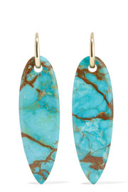Lisa Eisner Slender Spear gold-plated turquoise earrings