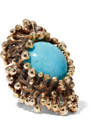 Lisa Eisner Heterotroph bronze and turquoise ring