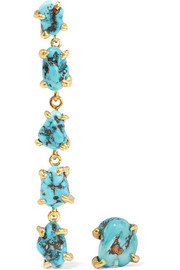 Lisa Eisner Sleeping Beauty gold-plated turquoise earrings