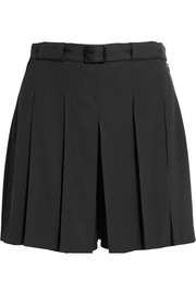 Soho pleated crepe shorts