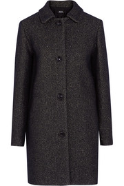 Rooney metallic wool-blend coat