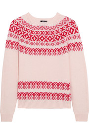 Romy wool and cotton-blend sweater