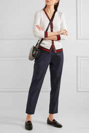 Isabelle cropped cotton and wool-blend tapered pants