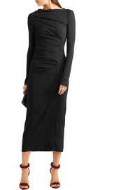 Vivienne Westwood Anglomania Taxa gathered stretch-jersey midi dress