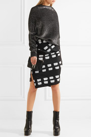 Vivienne Westwood Anglomania Accident printed stretch-cotton twill skirt