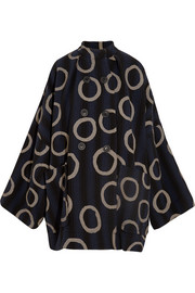 Joan printed cotton-blend coat