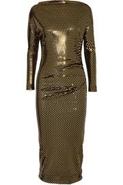 Vivienne Westwood Anglomania Draped metallic printed midi dress