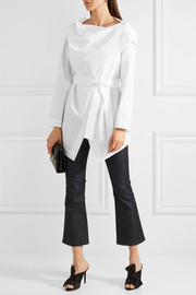 Vivienne Westwood Anglomania Square cotton-poplin wrap shirt