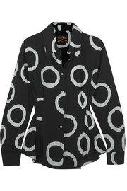 Vivienne Westwood Anglomania Ringstead printed crepe shirt