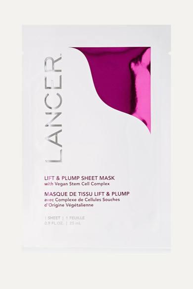 LANCER Lift & Plump Sheet Mask With Vegan Stem Cell Complex 4 X 0.9 Oz/ 27 Ml Sheets in Colorless