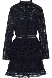 Ava guipure lace mini dress