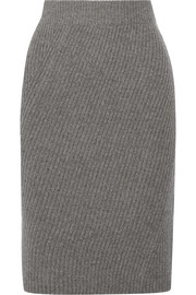 Ribbed merino wool skirt