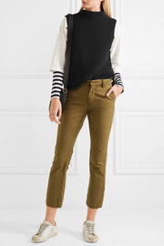 Veranda ribbed cotton-blend turtleneck top