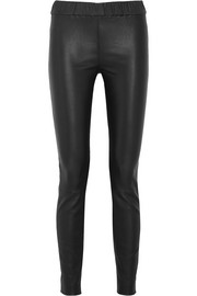 J.Crew Stretch-leather leggings