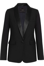 J.Crew Hugh satin-trimmed wool blazer