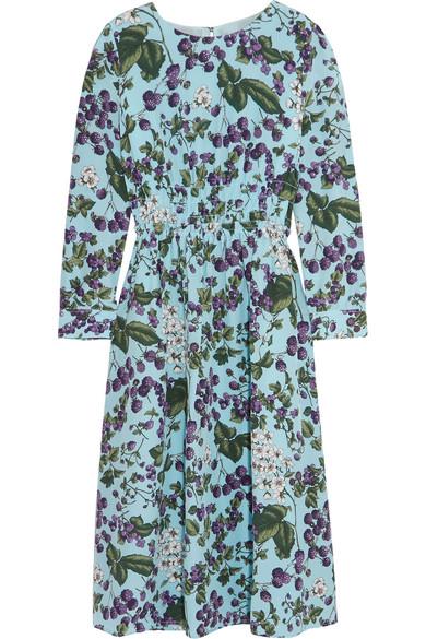J.Crew - Juntos Printed Silk-crepe Dress - Blue