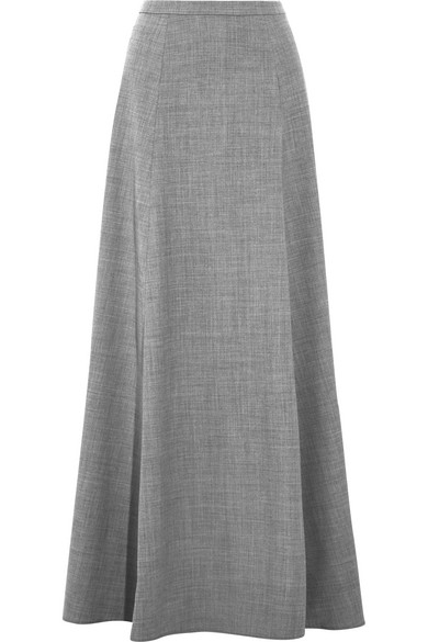 J.Crew - Collection Adriana Wool-blend Flannel Maxi Skirt - Gray