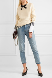 J.Crew Gayle grosgrain-trimmed knitted sweater