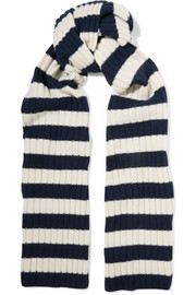J.Crew Striped ribbed cashmere scarf