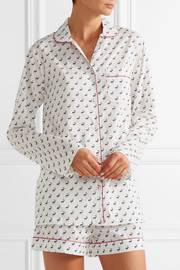 Phoebe printed cotton-poplin pajama set