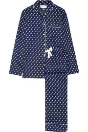 Jamie printed cotton-poplin pajama set