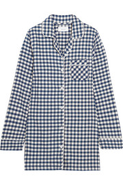 Audrey checked cotton-flannel nightshirt