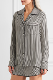 Jane striped silk pajama set