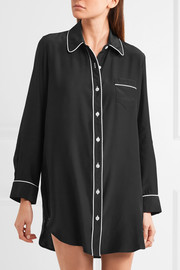Grace silk-satin nightshirt