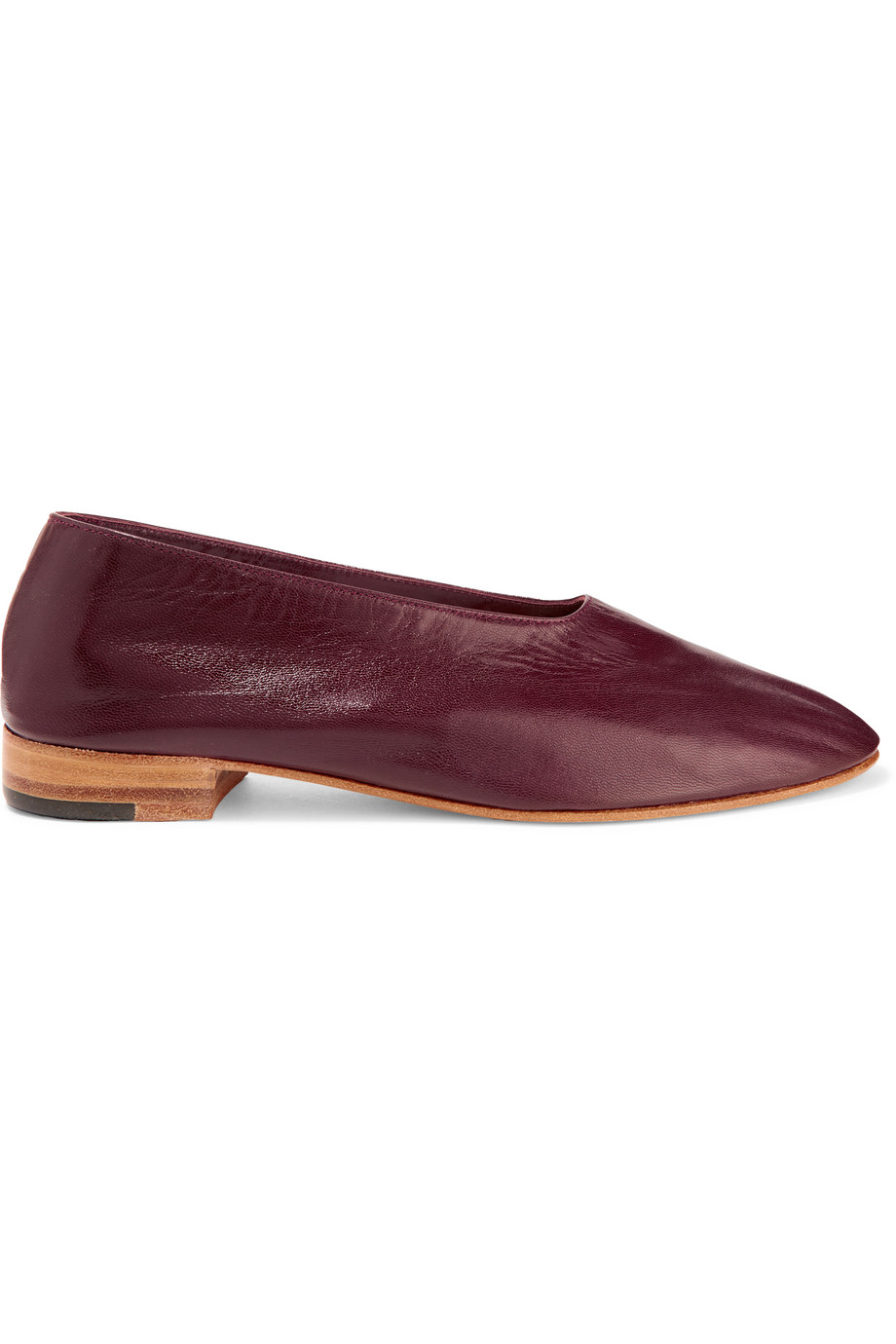 Glove Leather Pumps, Burgundy, Women's US Size: 7, Size: 37.5