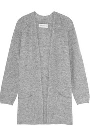 Belinta brushed ribbed-knit cardigan